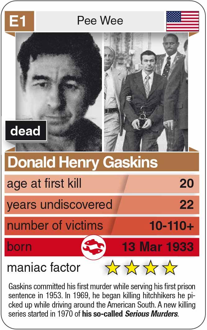 Spielkarte E1: Donald Henry Gaskins (* 1933 – † 1991)