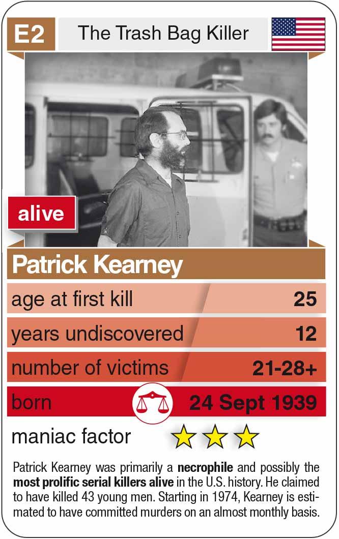 Spielkarte E2: Patrick Kearney (* 1939 – heute)