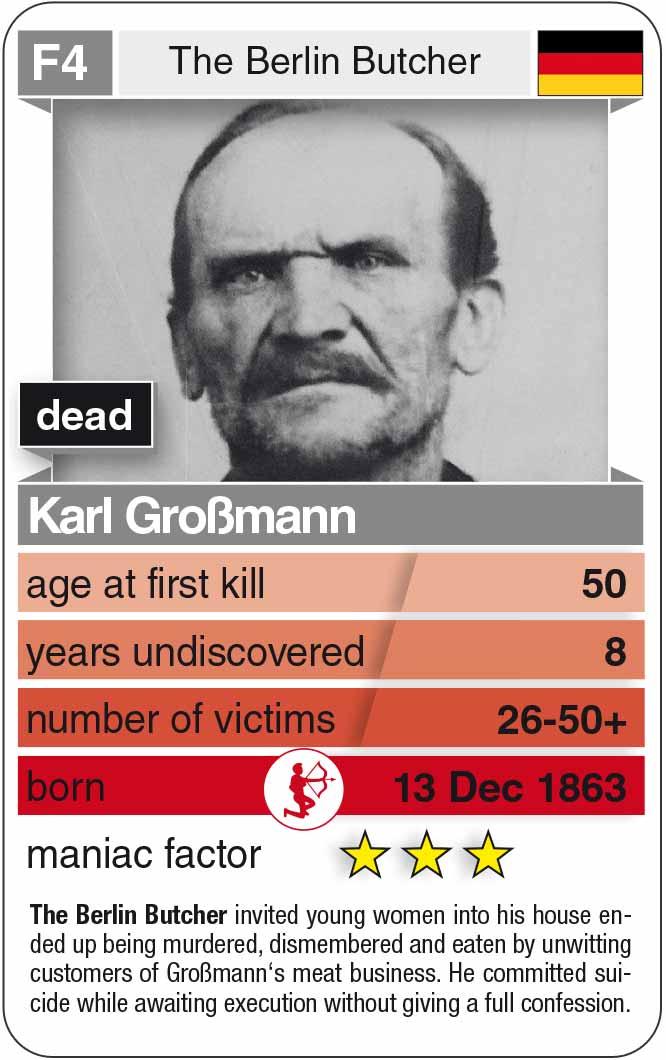 playing card F4: Karl Großmann (* 1863 – † 1922)