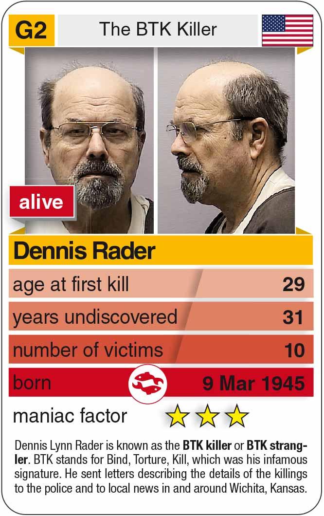 Spielkarte G2:  Dennis Rader (* 1945 – heute)