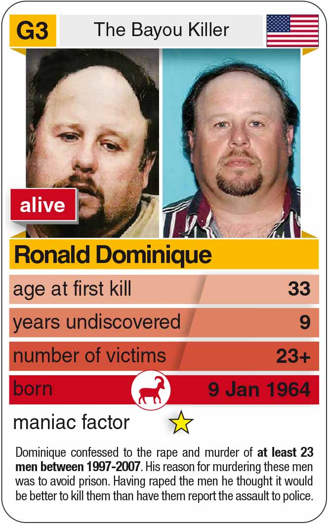 playing card G3:  Ronald Dominique (* 1964 – today)