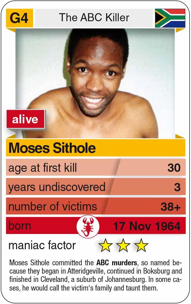 Spielkarte G4:  Moses Sithole (* 1964 – heute)