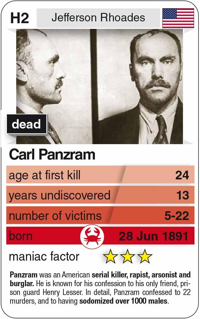 Spielkarte H2:  Carl Panzram (* 1891 – † 1930)