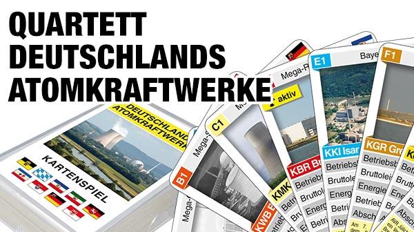 Quartettspiel Deutschlands Atomkraftwerke jetzt bestellen