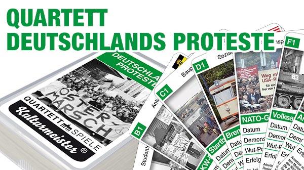 Quartettspiel Deutschlands Proteste jetzt bestellen